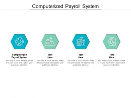 Computerized Payroll System Ppt Powerpoint Presentation Show Layouts Cpb