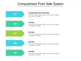 Computerized Point Sale System Ppt Powerpoint Presentation Visual Aids Cpb