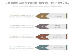 Concealed Data Aggregation Template Powerpoint Show