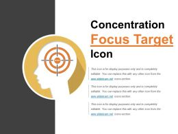 Concentration Focus Target Icon Powerpoint Topics
