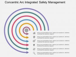 Concentric Arc Integrated Safety Management Flat Powerpoint Design