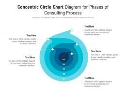 Concentric Circle Chart Diagram For Phases Of Consulting Process Infographic Template