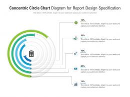 Concentric Circle Chart Diagram For Report Design Specification Infographic Template