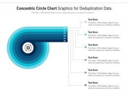 Concentric Circle Chart Graphics For Deduplication Data Infographic Template