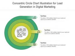 Concentric Circle Chart Illustration For Lead Generation In Digital Marketing Infographic Template
