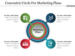 Concentric Circle For Marketing Plans Ppt Example