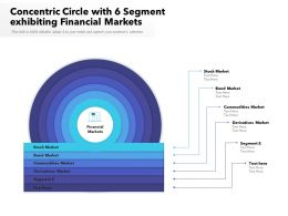Concentric Circle With 6 Segment Exhibiting Financial Markets