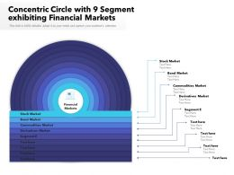 Concentric Circle With 9 Segment Exhibiting Financial Markets