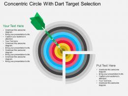 Concentric Circle With Dart Target Selection Flat Powerpoint Desgin