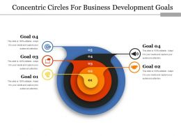 Concentric Circles For Business Development Goals Ppt Icon