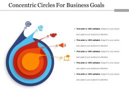 Concentric Circles For Business Goals Ppt Ideas
