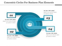 766086 Style Circular Concentric 4 Piece Powerpoint Presentation Diagram Infographic Slide