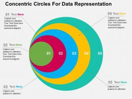 Concentric Circles For Data Representation Flat Powerpoint Design