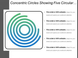 Concentric Circles Showing Five Circular Lines Icon Slide