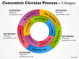 Concentric Circular Process 5 Stages 8