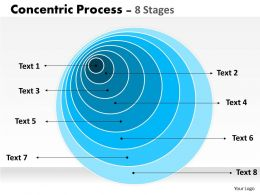 Concentric Process For Business Diagram