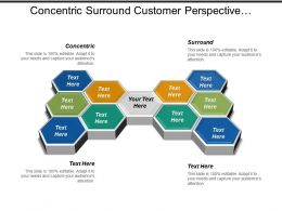 Concentric Surround Customer Perspective Financial Perspective Marketing Communication