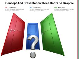 Concept And Presentation Three Doors 3d Graphic