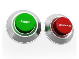 Concept Buttons For Simple And Complicated Stock Photo