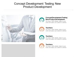Concept Development Testing New Product Development Ppt Powerpoint Presentation Infographics Format Ideas Cpb