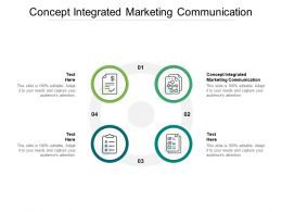 Concept Integrated Marketing Communication Ppt Powerpoint Presentation Samples Cpb