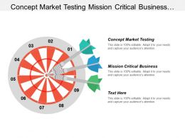 Concept Market Testing Mission Critical Business Manager Types Cpb