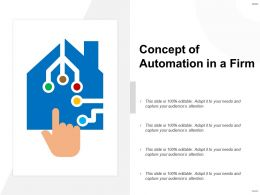 Concept Of Automation In A Firm