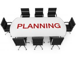 Concept Of Conference With Word Planning Stock Photo