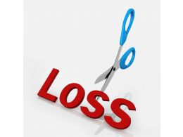 Concept Of Cutting Loss In Business Stock Photo