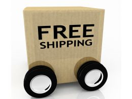 Concept Of Free Shipping Stock Photo