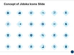 Concept Of Jidoka Icons Slide Checklist And Dashboard Ppt Powerpoint Presentation File Icon
