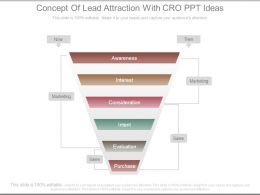 Concept Of Lead Attraction With Cro Ppt Ideas
