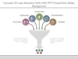 Concept Of Lead Attraction With Cro Ppt Powerpoint Slides Background