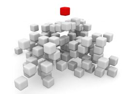 Concept Of Leadership By Cubes Stock Photo