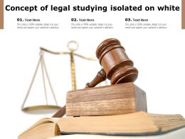 Concept Of Legal Studying Isolated On White