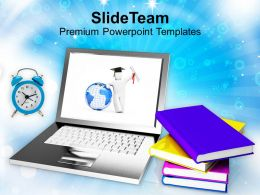 Concept Of Modern Education And Online Learning Powerpoint Templates Ppt Themes And Graphics 0213