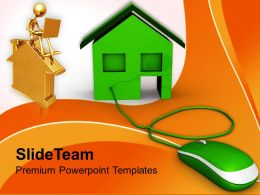Concept Of Online Buying Real Estate PowerPoint Templates PPT Themes And Graphics 0213