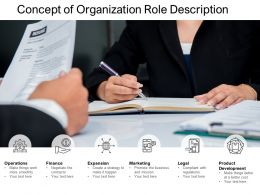 Concept Of Organization Role Description