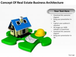 Concept Of Real Estate Business Architecture Ppt Graphics Icons PowerPoint