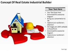 Concept Of Real Estate Industrial Builder Ppt Graphics Icons PowerPoint