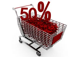 Concept Of Shopping In Sale Stock Photo