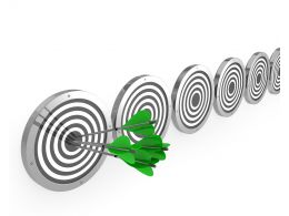 Concept Of Stay Ahead With Target Achievement Stock Photo
