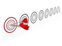Concept Of Stay Focused Hit On Target Stock Photo