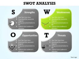 concept of swot analysis with eagle lock bomb icons powerpoint diagram templates graphics 712
