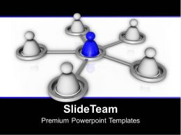 Concept Of Teamwork Business Network PowerPoint Templates PPT Themes And Graphics 0313
