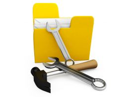 Concept Of Tools With Folder Stock Photo