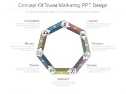 Concept Of Tower Marketing Ppt Design