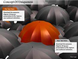 Concept Of Uniqueness Image Graphics For Powerpoint
