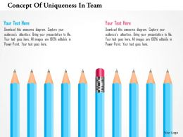 Concept Of Uniqueness In Team Powerpoint Templates