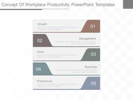 Concept Of Workplace Productivity Powerpoint Templates